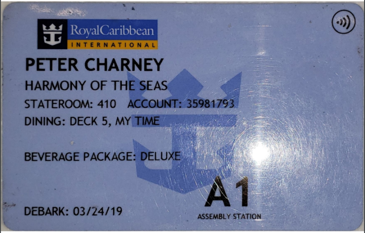 Harmony of the Seas Room Key
